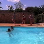 Aujourd'hui c'était piscine avec cette chaleur!